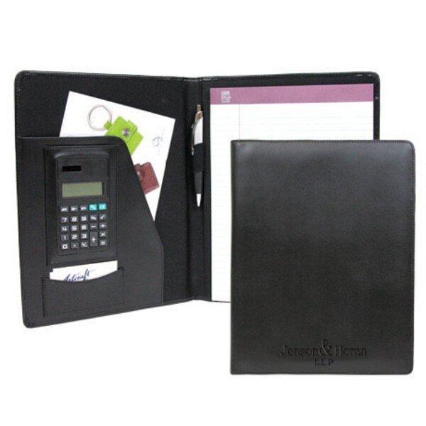 Leather Folio with Calculator