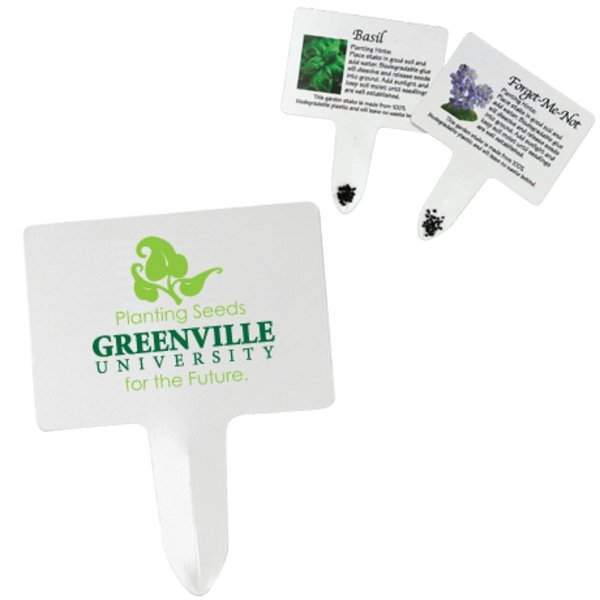 Biodegradable Seed Stake w/ Full Color Imprint