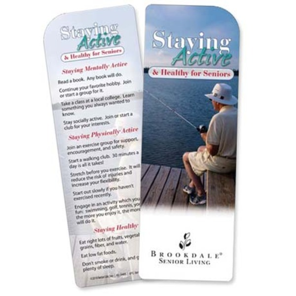 Staying Active & Healthy For Seniors Bookmark