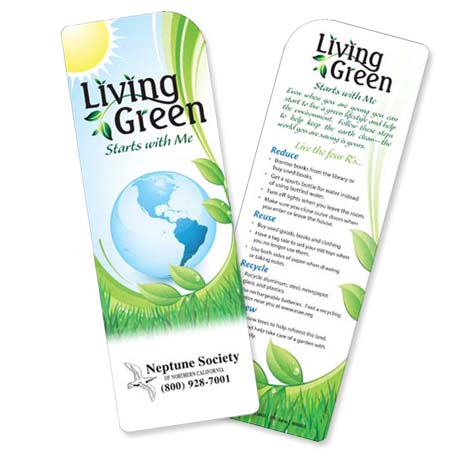 Living Green Starts With Me Bookmark