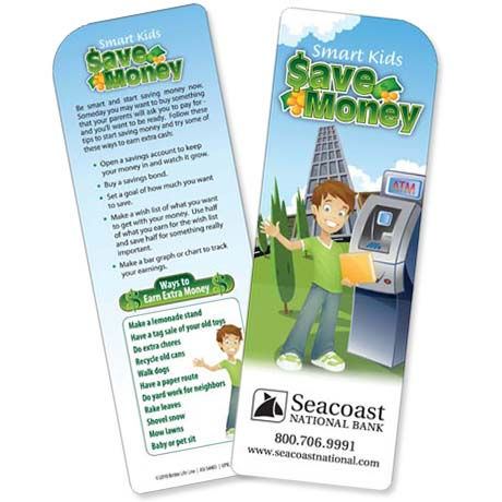 Smart Kids Save Money Bookmark