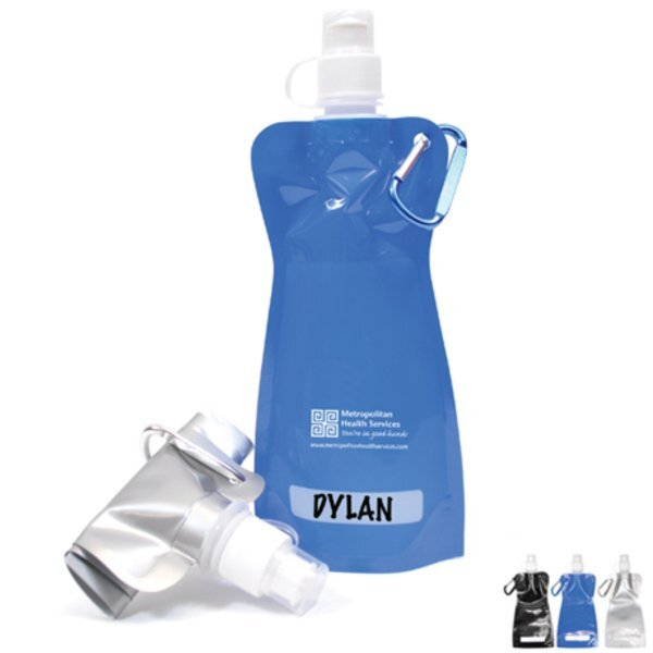 Collapsible Water Bottle, 16oz., BPA Free