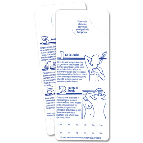 Spanish Tri-Method BSE Shower Card - Free Shipping!