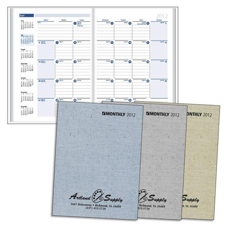 """Printed Weave Monthly Desk Planner, 7"""" x 9-7/8"""""""
