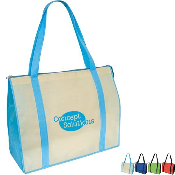 Oversize Non Woven Zippered Convention Tote