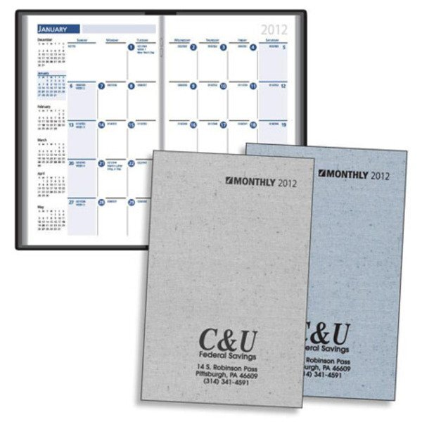 Printed Weave Monthly Pocket Planner