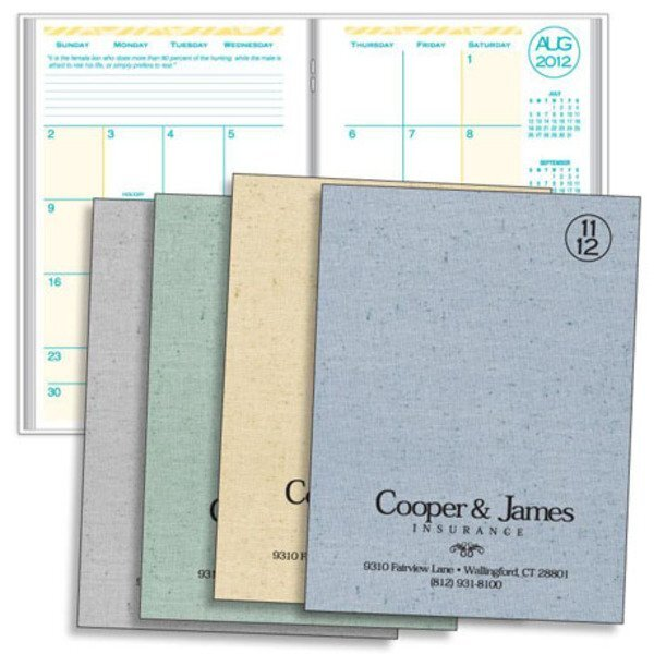 Printed Weave Academic Monthly Desk Planner