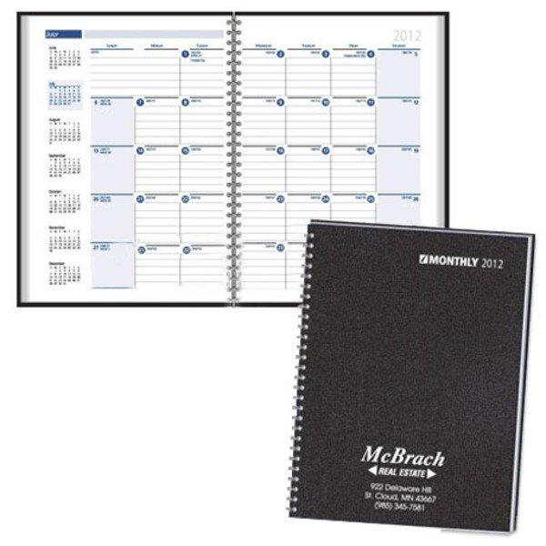 "Morroco Wire Bound Monthly Desk Planner, 7"" x 10"""