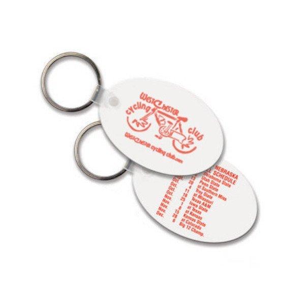 Soft Vinyl Key Tag, Oval