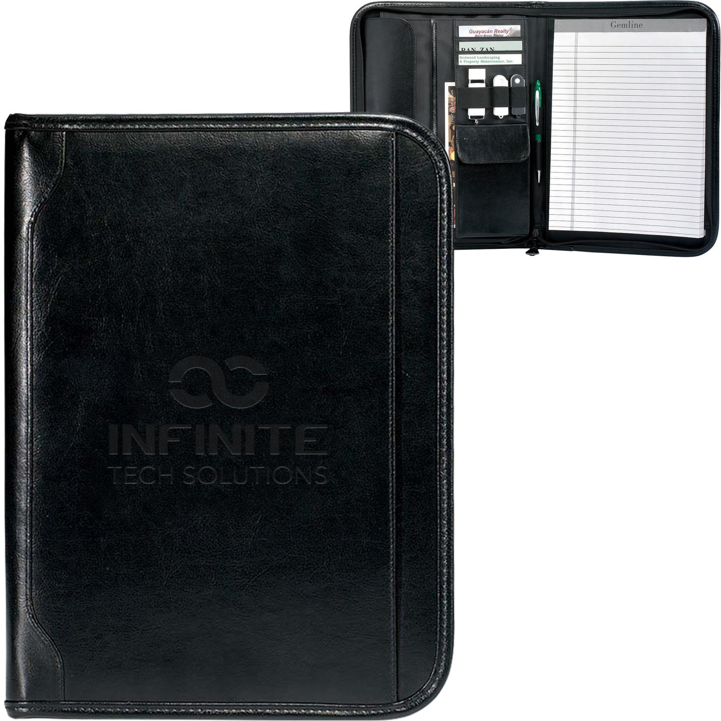 Vintage Leather E-Padfolio, iPad Compatible