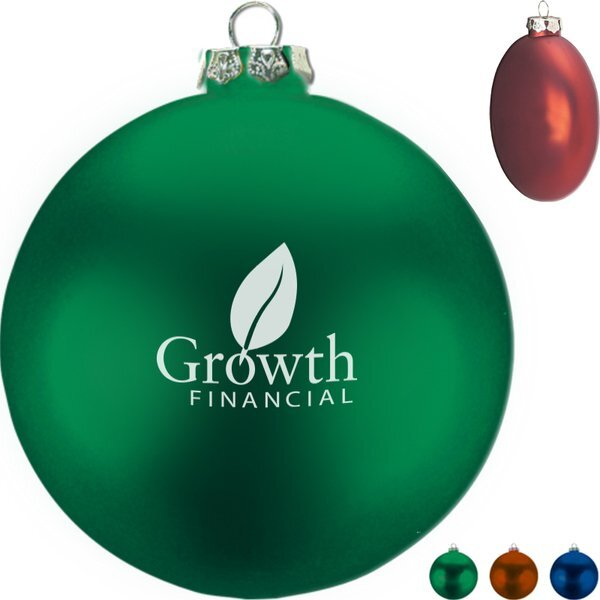 Ellipsoid Satin Finish Ornament, 3-3/4""