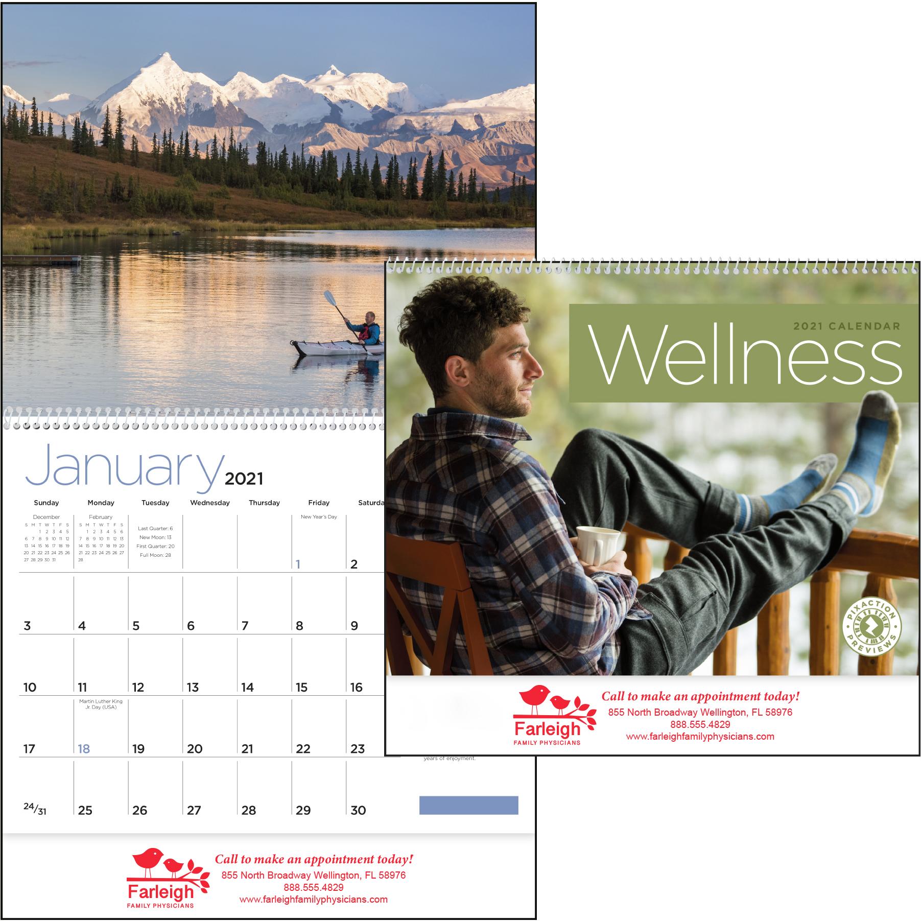 Wellness Wall Calendar