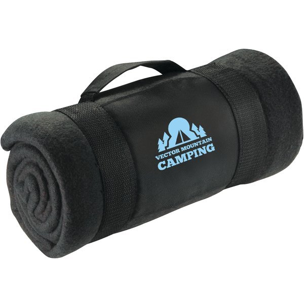 "Convenient Roll Up Extra Large Fleece Blanket, 72"" x 48"""
