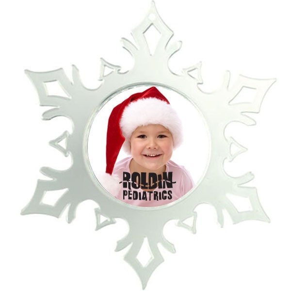 """Snap-In Photo Snowflake Ornament, 4-3/4"""" x 5-1/2"""""""