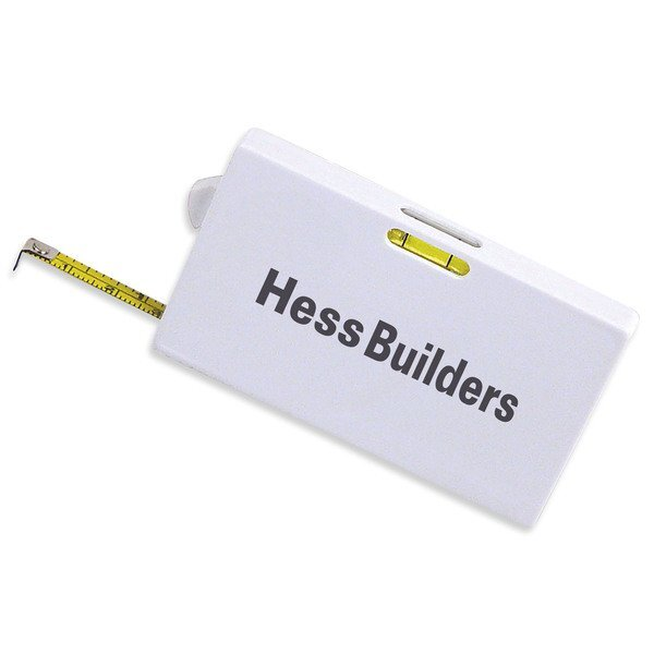 """Business Card Tape Measure w/ Level, 6' 7"""""""