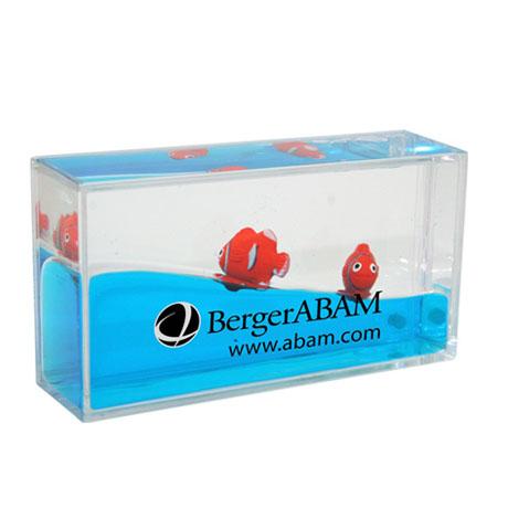 Mini Wave Liquid Motion Clownfish Paperweight