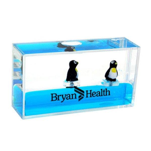 Mini Wave Liquid Motion Penguin Paperweight