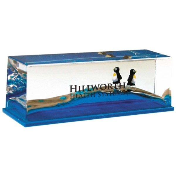 Wave Liquid Motion Penguin Paperweight