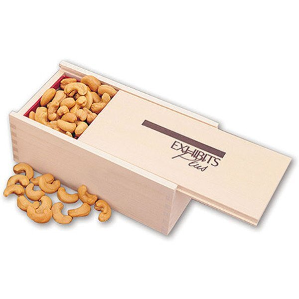 Wooden Collector's Box with Extra Fancy Jumbo Cashews