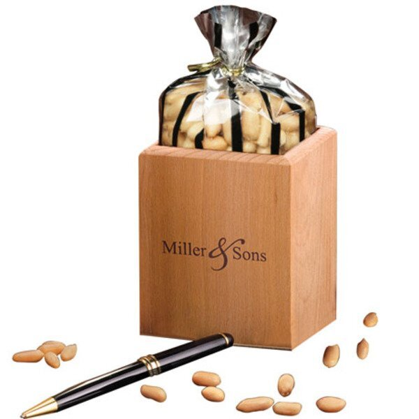 Choice Virginia Peanuts in Hardwood Pen & Pencil Cup