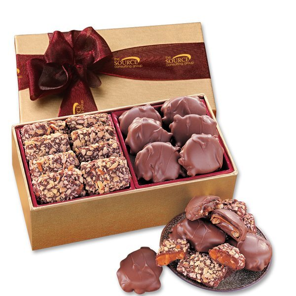 English Butter Toffee & Pecan Turtles Gift Box
