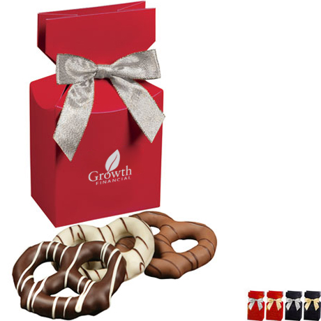 Chocolate Covered Pretzels Favor Box