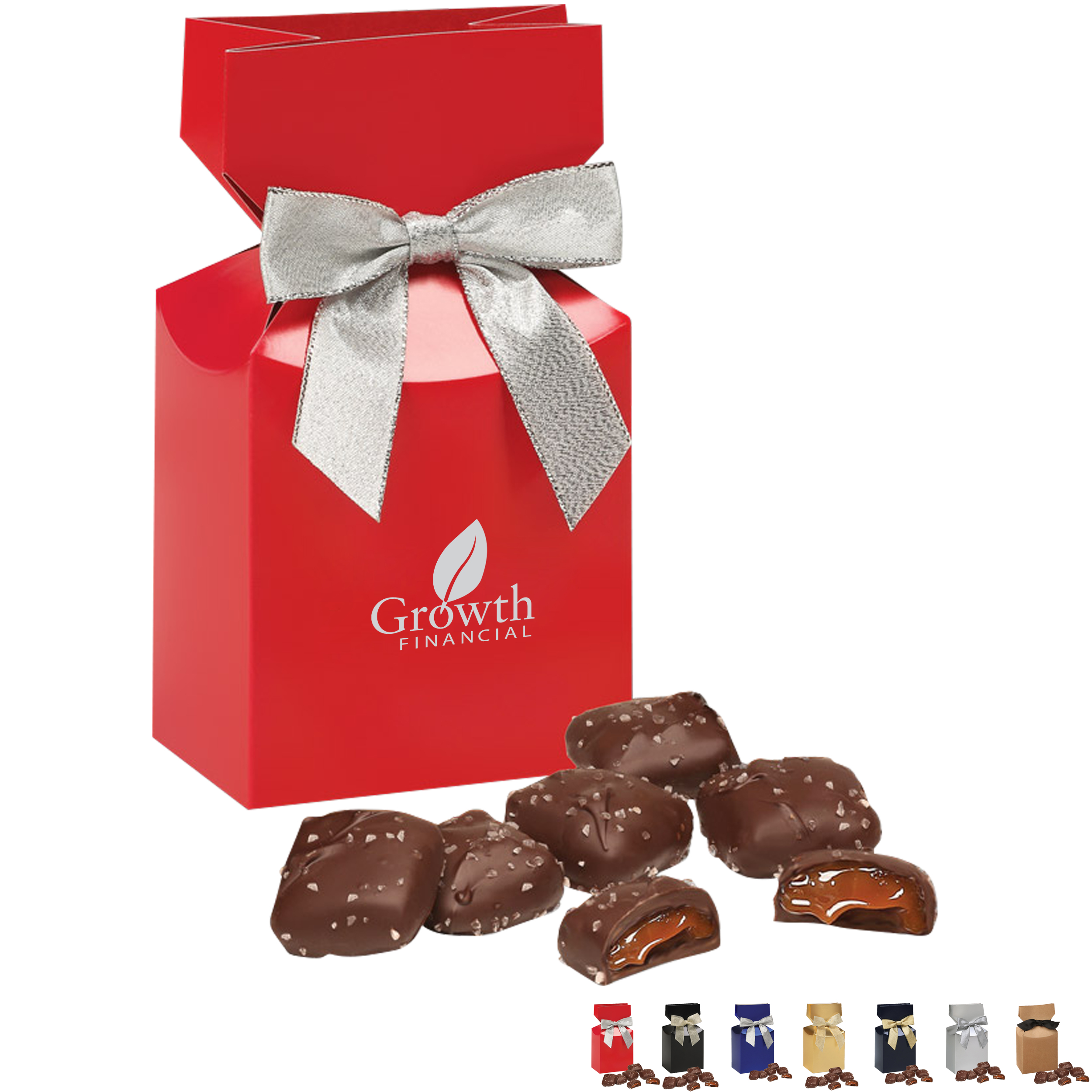 Chocolate Sea Salt Caramels Favor Box