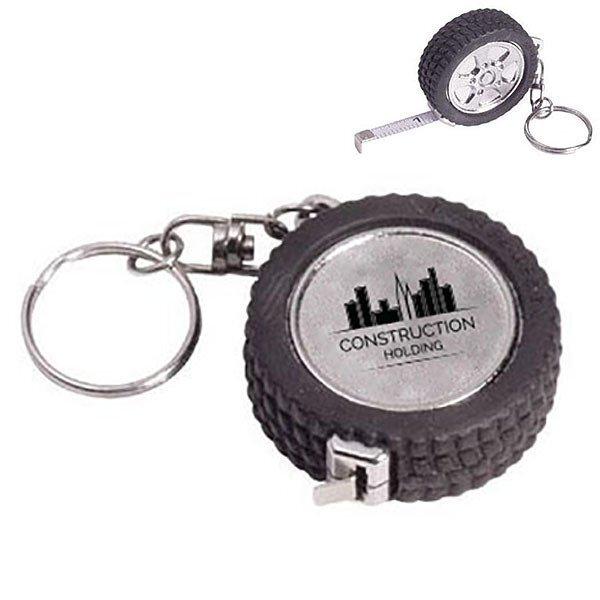 Tire Tape Measure Keychain