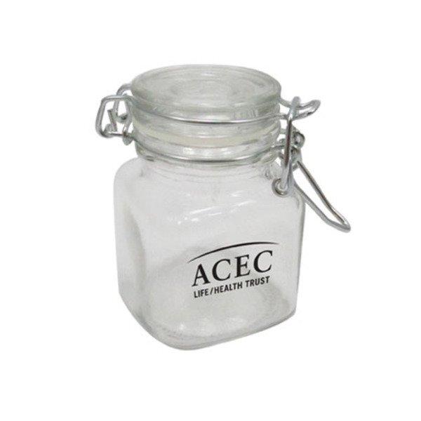 Mini Hinged Top Glass Jar