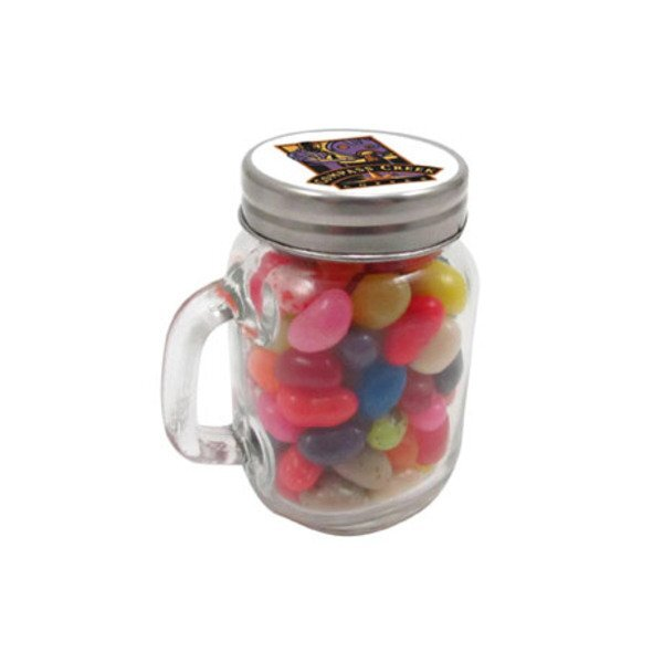Mini Glass Mason Jar w/ Gourmet Jelly Beans