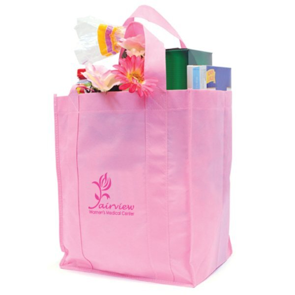 Pink Non-Woven Shopping Tote - Free Set Up Charges!