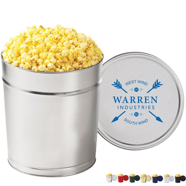 Old Fashioned Popcorn Tin - 3-1/2 Gallon