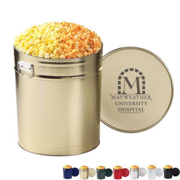Two Way Popcorn Tin - 6-1/2 Gallon