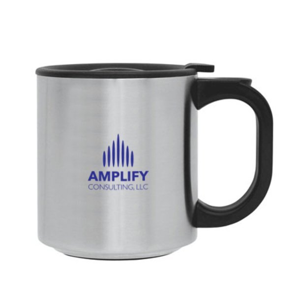 Stainless Steel Travel Coffee Mug, 12oz.