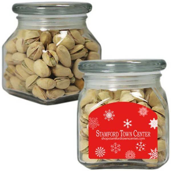 Pistachios in Small Glass Apothecary Jar