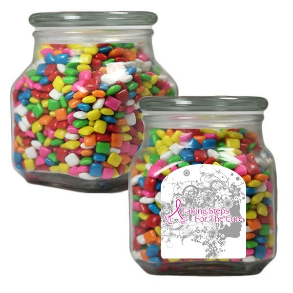 Chickle Gum in a Large Glass Apothecary Jar