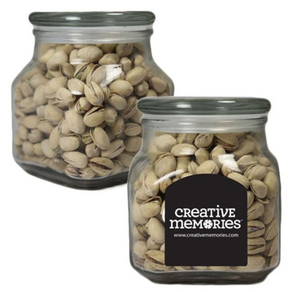 Pistachios in Large Glass Apothecary Jar