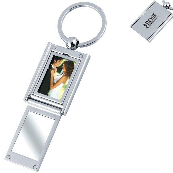Rectangle Photo Frame/Mirror Key Chain