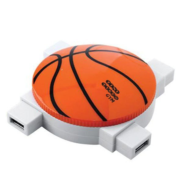 Sports 4-Port USB 2.0 Hub - Basketball