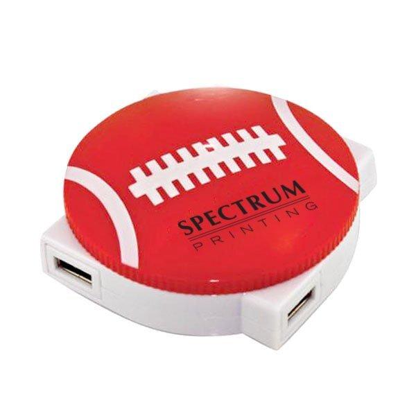 Sports 4-Port USB 2.0 Hub - Football