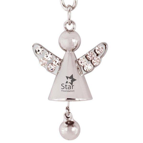Angel Jeweled Key Chain w/ Jingling Bell