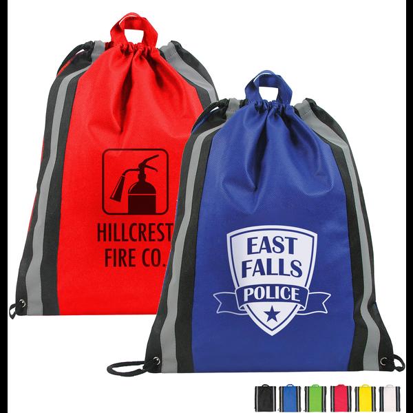 Reflective Stripe Non-Woven Backpack