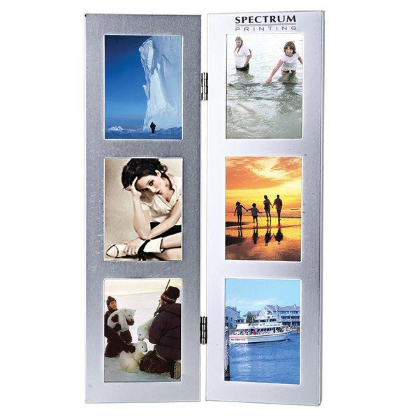 Two-Fold Six Photo Metal Frame