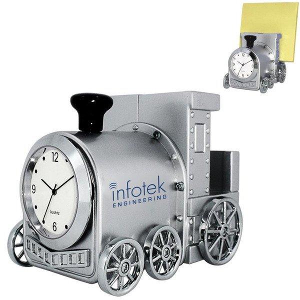 Locomotive Clock & Business Card Holder