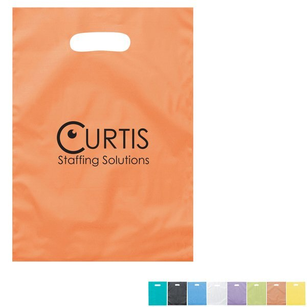 "Frosted Brite Plastic Take Home Bag, 9-1/2"" x 14"""
