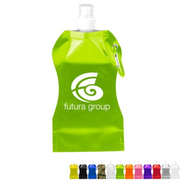 Hourglass Collapsible Water Bottle, 16.9oz.