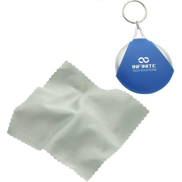 Pocket Microfiber Lens Cloth Key Chain