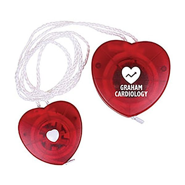 Heart Tape Measure w/ Neck Strap, 5'