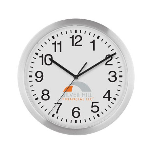 Slim Metal Wall Clock, 12""