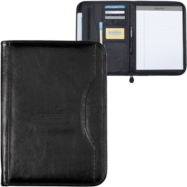 Wall Street Zippered Padfolio
